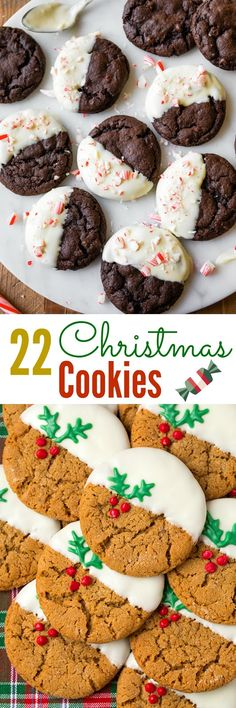 22 Christmas Cookies to get you through the holiday season. A great list for bake sales, cookie walks, holiday parties and family gatherings!