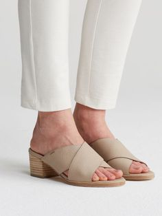 Kent Sandal in Tumbled Leather-EF44164