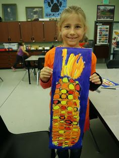 color, painting, Mini Matisse: Warm and Cool Corn, Finished Art Thanksgiving Art Projects, Fall Art Projects, Classroom Art Projects, School Art Projects, Art Classroom, Thanksgiving Preschool, Happy Thanksgiving, Classroom Ideas, Kindergarten Art