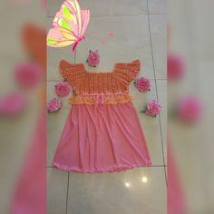 Dress for girl.rose.crochet and sew