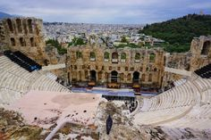 The Odeon of Herodes Atticus, Acropolis, Athens Acropolis, Atticus, White Houses, Sandy Beaches, Mykonos, Athens, Greece, Backpack, Travel
