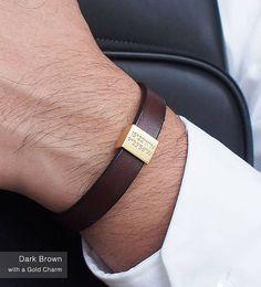 Personalized Bracelet for Him / Coordinates Bracelet / Mens