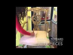 Painting fabric with Chalk Paint® by Annie Sloan with Amanda Peppard of Suite Pieces. So simple! - YouTube