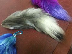Custom 10 Inch Yarn Tails, Sale, Faux Tails for Cosplay, Fursuiting, Wolf, Cat, Fox Costumes on Etsy, $10.00