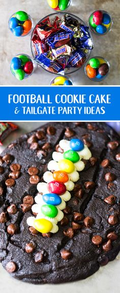 You're sure to be ready for game day guests with this recipe for a Football Cookie Cake. In our opinion, there's no better dessert treat to share with hungry tailgating fans—especially since you decorate it with M&M's and Snickers! This collection of Tailgate Party Ideas is sure to give you the inspiration you need to make entertaining easy. Plus, you can find everything you need to make this sweet creation at Target.