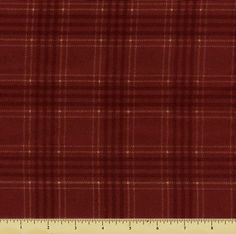 Woolies Flannel Fabric - Red Large Plaid F18142-R4 by Beverlys.com