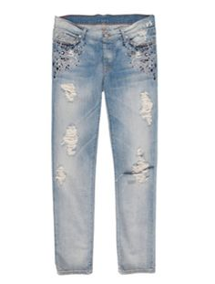 Women's 7 For All Mankind Josefina in Light Destroyed