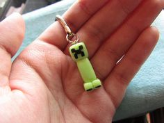 Glow In the Dark Minecraft Creeper -Keychain or Cell Phone Strap. Etsy