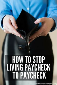 Stop Living Paycheck to Paycheck! It is a vicious cycle. Find out how you can stop the madness and gain control of your finances!!