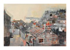 Gallery of Works Mike Bernard, Port Isaac, City Scene, Art For Art Sake, Rooftops, Urban, Abstract, Cornwall, Gallery
