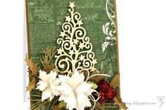 Lovely festive card by Joanna featuring CI Starry Christmas Tree die Christmas Cards To Make, Antique Christmas, Handmade Crafts, Xmas, Christmas Trees, Crafts To Make, 4th Of July, Projects To Try, Card Making