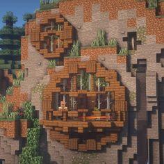 Minecraft Mountain House, Minecraft Cottage, Minecraft Houses Survival, Cute Minecraft Houses, Minecraft Crafts, Minecraft Stuff, Minecraft Farm, Minecraft Kingdom, Minecraft Logo