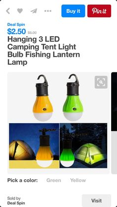 Sweet camping clip lights.  | @giftryapp