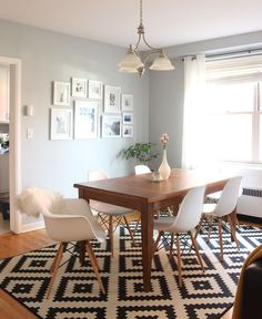 West Elm - Mid-Century Dining Room With Eames Chairs