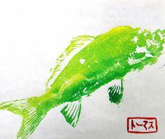 4th Grade: Gyotaku Prints