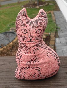 Vintage Cat pillow/small by HotGlueCrafts on Etsy
