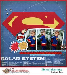 All About Scrapbooks Australia: My Super Hero by Fiona Johnstone