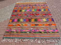 Vintage Turkish Kilim Rug from Milas  / 63 '' x 92 ''