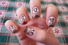 Cuddly Reindeer On Short Nails