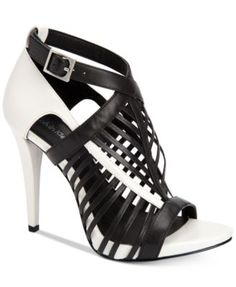 bd2ceddf729 Calvin Klein Women s Naida Caged Sandals Shoes - Sandals   Flip Flops -  Macy s