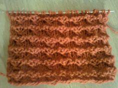 Узор со звездочкой (вязание на спицах).  Pattern with an asterisk  (knit...