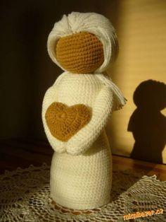 PANENKA – ANDĚLKA, i pro začátečnice :-)<br><br>Milé maminky, inspiraci znetu jsem zahlédla zde na ...