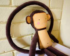 RESERVED  RESERVADO Handmade eco monkey by SeedsOfLoveHandmade