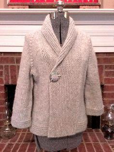 casaco de malha em tricot