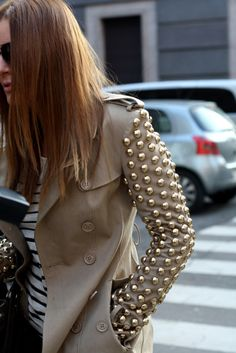 Burberry studded trench ~ Love it!