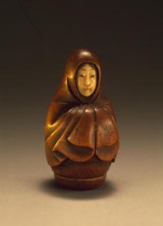 Netsuke: Onna-Daruma (Woman Daruma), mid-19th century, Japan