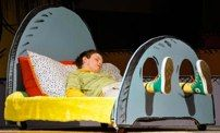 Cartoony bed for Seussical etc.