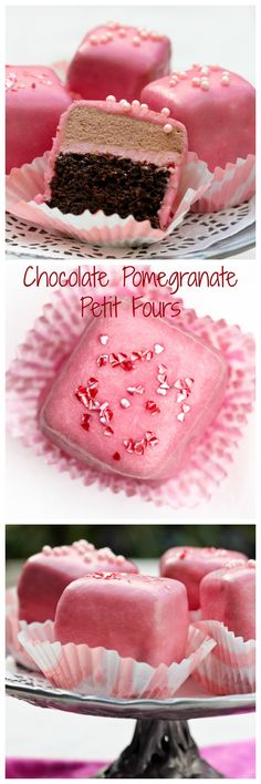 Chocolate Pomegranate Petit Fours | @spicyperspectiv