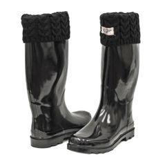 Women's & Ladies Tall Below Knee Flat Knit Cuff Rubber Rain Boots / Snow Boots (8, Shiny Black) Forever Young Inc.,http://www.amazon.com/dp/B00CFXRU5I/ref=cm_sw_r_pi_dp_ZSsGsb01977XDF28