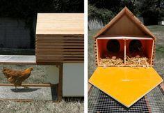 Architect Peter Strzebniok Enters the Green Modern Prefabricated Modular Chicken Coop Fray : TreeHugger