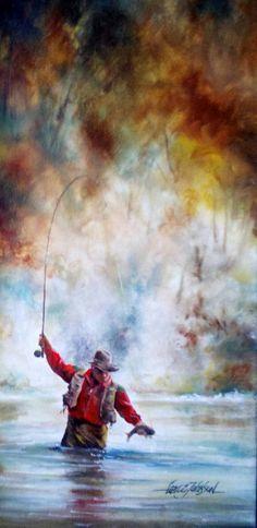 Oil on Board by Lance Johnson-Oil on Board by Lance Johnson Oil on Board by Lan. - Oil on Board by Lance Johnson-Oil on Board by Lance Johnson Oil on Board by Lance Johnson – - Fishing Basics, Fly Fishing Tips, Sport Fishing, Gone Fishing, Best Fishing, Fishing Lures, Fishing Tricks, Walleye Fishing, Fishing Knots