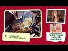 Amadorabili Ricette - Pennette con radicchio e salsiccia