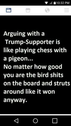 """So true!!!! Trump supporters are a """"very special breed of people""""."""