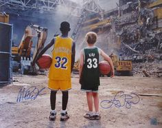 Magic Johnson And Larry Bird Dual Autographed 16 X 20 Photograph ...