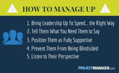 How to manage up