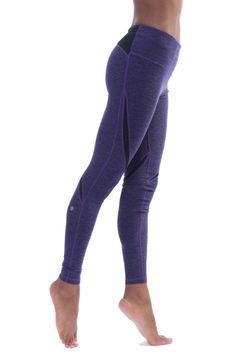 Heather Marl Swerve Legging (Style 8966BR153, Purple R153) by Nanette Lepore Play