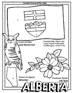 Canadian Province - Alberta coloring page Helpful for memory work with Claritas Classical Academy Cycle 3 Geography http://claritasclassicalacademy.com/Curriculum.html