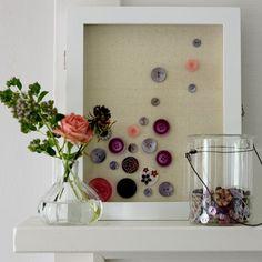 Botões não são apenas para roupas não! Aqui tem algumas inspirações para decorar o seu lar.                             E aqui um video mui...