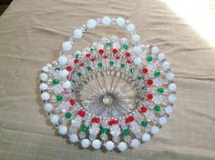 Christmas Bead & Safety Pin Baskets large by PJsNeedfulStuff, $25.00