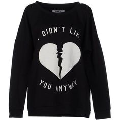 Only Sweatshirt ($32) ❤ liked on Polyvore featuring tops, hoodies, sweatshirts, sweaters, shirts, black, polyester shirt, black shirt, longsleeve shirt and print sweatshirt