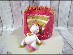 Fat Unicorn Cake Tutorial by Delicious Sparkly Cakes - YouTube