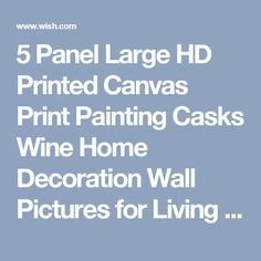 5 Panel Large HD Printed Canvas Print Painting Casks Wine Home Decoration Wall Pictures for Living Room Wall Art on Canvas