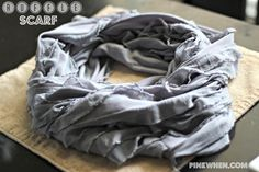 DIY Ruffle Infinity Scarf by PinkWhen on Brag About It | Link Party | No. 27 on VMG206