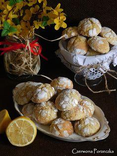 Czerwona Porzeczka: Popękane ciasteczka cytrynowe Muffin, Breakfast, Blog, Morning Coffee, Muffins, Blogging, Cupcakes