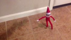Cute 7 second Stop Motion Video of the Elf on the shelf coming to our house for the first time. Pin this video because It is really fun for the kids to watch the Elf come to life. Also, pin for inspiration so you can make a stop your own stop motion video for your kids. We used fishing line and wrapped it around the Elf's arms to hold up the Elf and to help him move. #Elf #ElfOnTheShelf #Christmasideas #StopMotion #funny