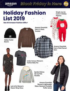 Amazon Black Friday Ad Scan, Deals and Sales 2019 The Amazon 2019 Black Friday ad is here! Be sure to subscribe to our newsletter to receive emails about all the latest Black Friday news and ad leaks ... #blackfriday #amazon Amazon Black Friday, Black Friday Ads, Plaid Flannel, Flannel Shirt, Zebra Kids, Men's V Neck Sweaters, Friday News, Holiday Pajamas, Zip Up Hoodies